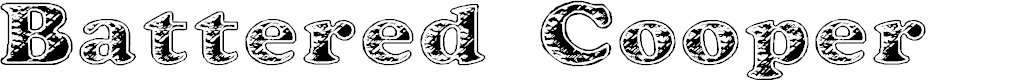 Preview image for Battered Cooper Font