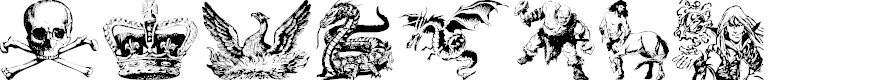 Preview image for Fantasy Clipart Font