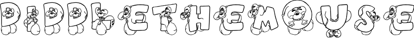 Preview image for DiddleTheMouse Font