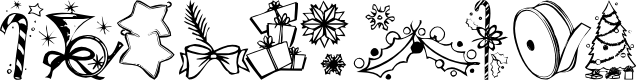 Preview image for KR Christmas Jewels 2005 5 Font