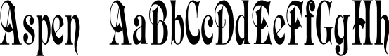 Preview image for AspenFont