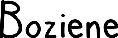Preview image for Boziene Font
