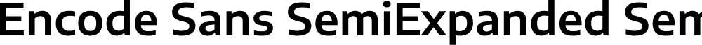 Encode Sans SemiExpanded SemiBold
