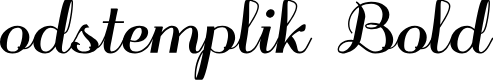Preview image for odstemplik Bold