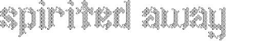 Preview image for Spirited Away Regular Font