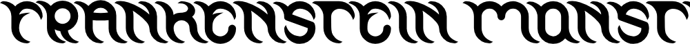 FRANKENSTEIN MONSTER Bold