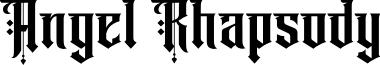 Angel rhapsody Regular font