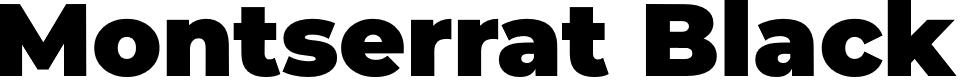 Preview image for Montserrat Black Font
