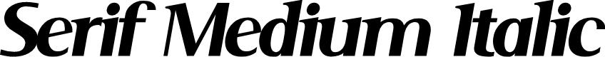 Preview image for Serif Medium Italic