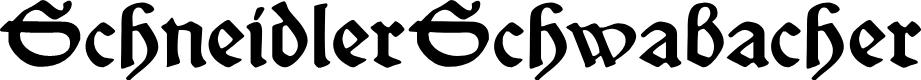 Preview image for SchneidlerSchwabacher Font