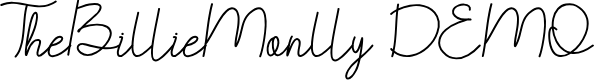 Preview image for TheBillieMonlly DEMO Font