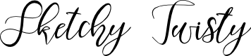 Preview image for Sketchy Twisty Font