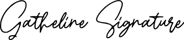 Preview image for Gatheline Signature Font