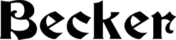 Preview image for Becker Font