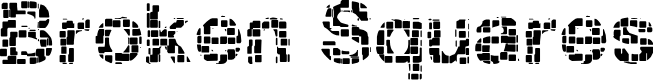 Preview image for Broken Squares Font