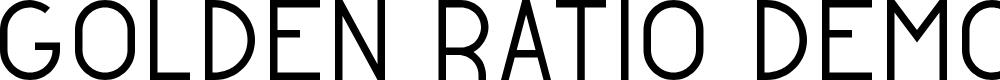 Preview image for Golden Ratio Demo Regular Font