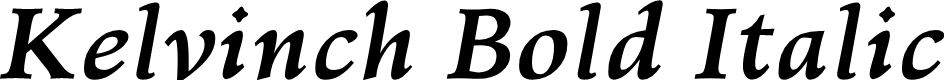 Preview image for Kelvinch Bold Italic
