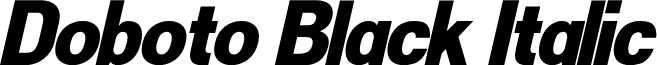Doboto Black Italic