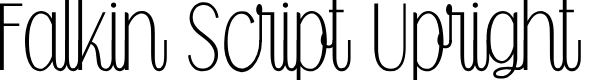 Preview image for Falkin Script Upright PERSONAL