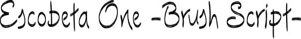 Preview image for Escobeta-One Font