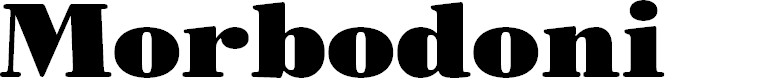 Preview image for Morbodoni Font