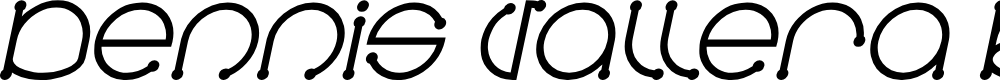 Preview image for Dennis Vallera Bold Italic
