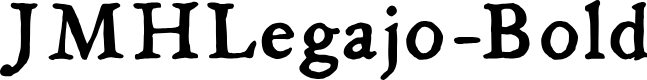 Preview image for JMHLegajo-Bold Font