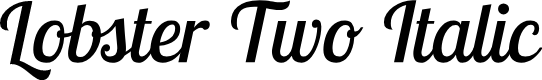 Preview image for Lobster Two Italic
