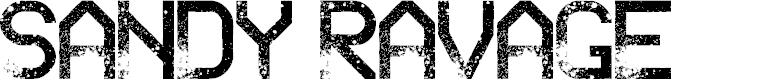 Preview image for Sandy Ravage Regular Font