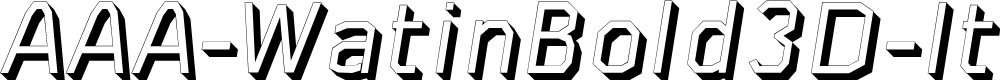 Preview image for AAA-WatinBold3D-Italic