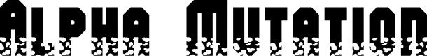 Preview image for Alpha Mutation Font