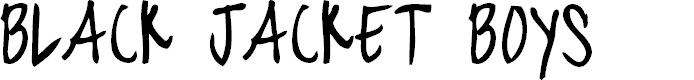 Preview image for blackjacketboys-Regular Font