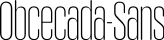 Preview image for Obcecada-Sans Font