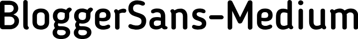 Preview image for BloggerSans-Medium