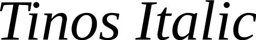 Preview image for Tinos Italic