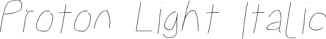 Preview image for Proton Light Italic
