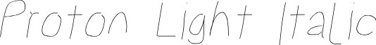 Proton Light Italic