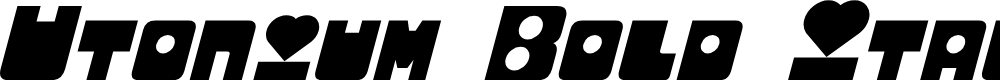 Preview image for Utonium Bold Italic