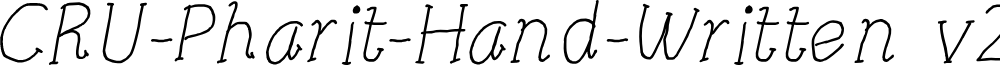 CRU-Pharit-Hand-Written v2 Italic