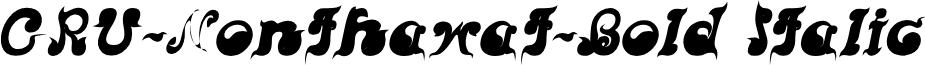 CRU-Nonthawat-Bold Italic