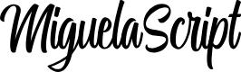 Preview image for MiguelaScript Font