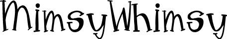 Preview image for MimsyWhimsy Font
