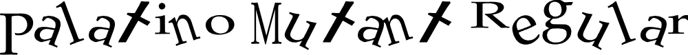 Preview image for Palatino Mutant Regular Font