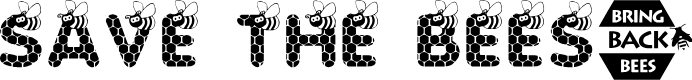 Preview image for SAVE THE HONEYBEE Font