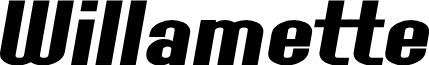 SF Willamette Extended Bold Italic