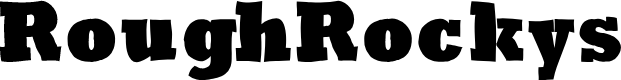 Preview image for RoughRockys Font
