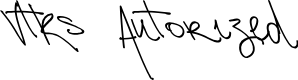 Preview image for Vtks Autorized 2 Font