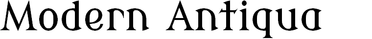 Preview image for Modern Antiqua Font