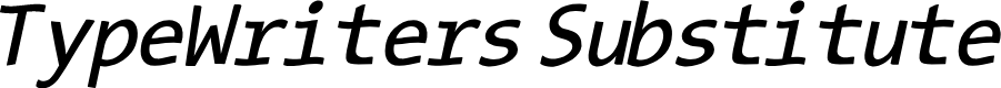 Preview image for TypeWritersSubstitute-Oblique