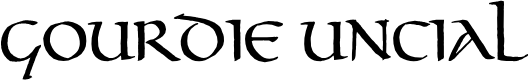 Preview image for Gourdie Uncial Font